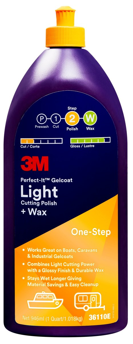 ™ Perfect-It™ Gelcoat Light Cutting Polish + Wax 946 ml